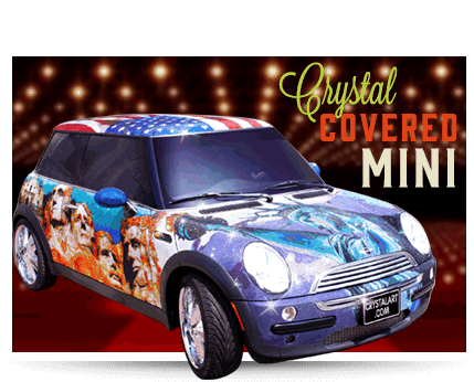Baltimore Ripley's Believe It or Not Crystal Covered Mini Cooper
