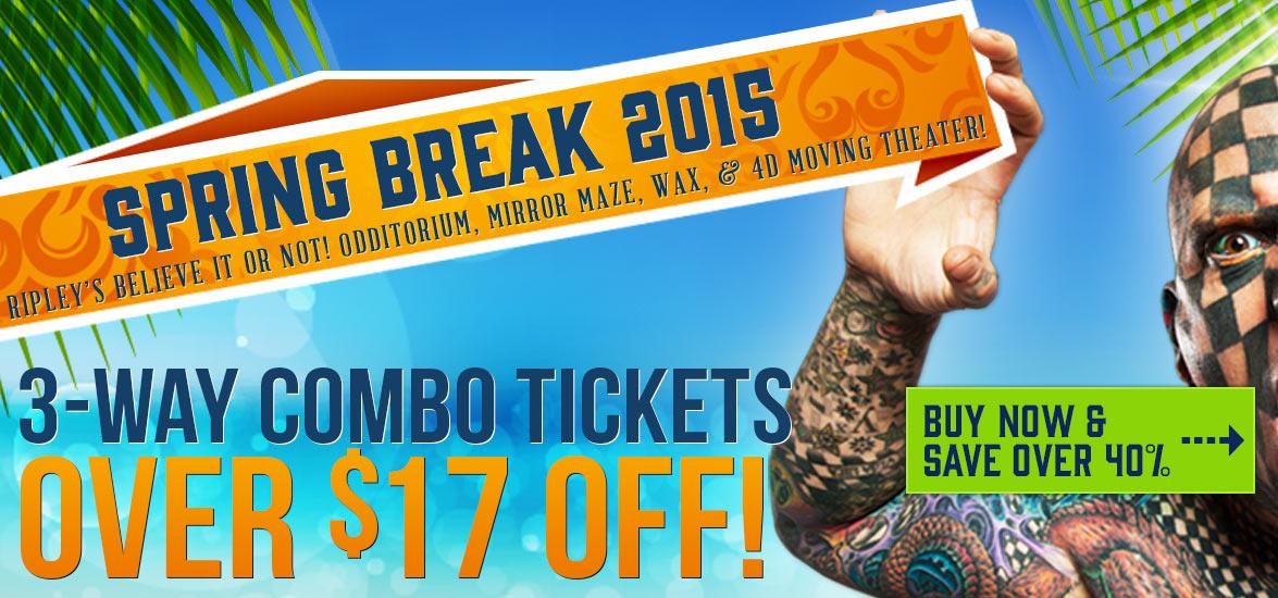 Spring break 40% discount